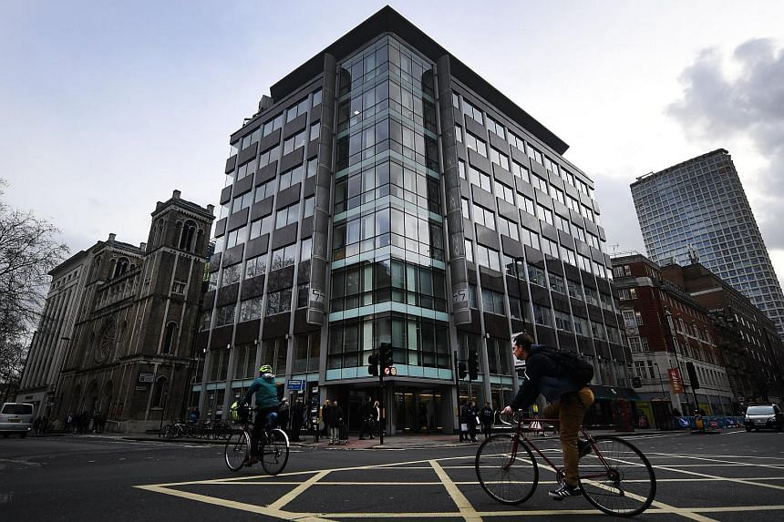 The building housing the Cambridge Analytica's offices in London, Britain, seen on March 23, 2018.