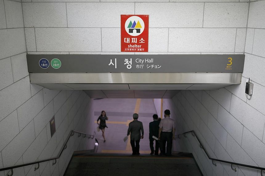 Seoul Metro, which runs Subway Line Nos. 1 to 8 in Seoul, installed the scream detection system called 'Safe Mate' in women's bathrooms at 10 stations on Line No. 5.