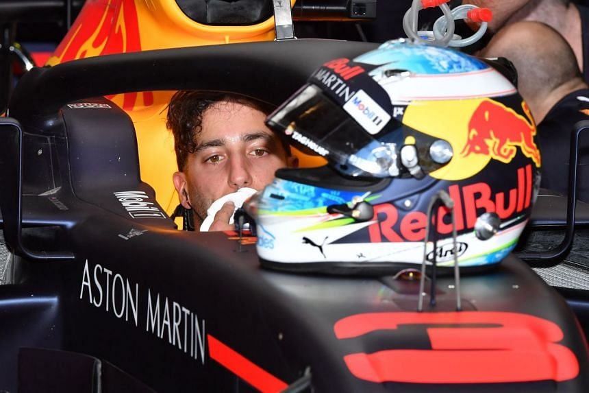 Daniel Ricciardo was handed a three-place grid penalty for his home race for going too fast during red flag conditions.