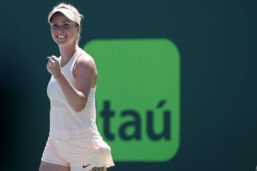 Elina Svitolina emerged with a 6-4, 6-2 victory thanks to a solid service performance that saw her win nearly 80 per cent of points on her first serve.