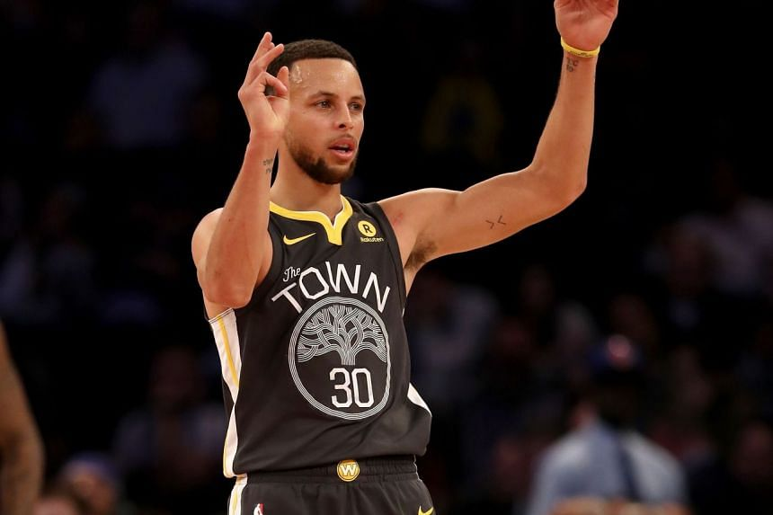 Golden State Warriors' Stephen Curry during their game against the New York Knicks at Madison Square Gardens on Feb 26, 2018.