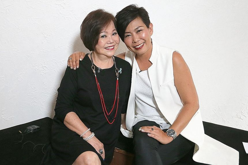Madam Tan Ming Choo now works as a cook at her daughter Irene Ang's company, Fly Entertainment.
