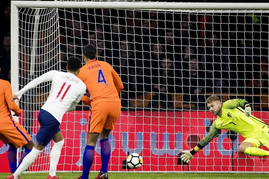 Jesse Lingard scoring the only goal of the international friendly in Amsterdam on Friday to give England their first win against the Netherlands since 1969. It was his first goal for his country, on his ninth appearance.