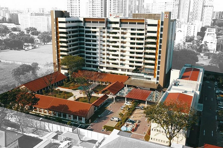 Kwong Wai Shiu Hospital's redeveloped facilities include a new 12-storey nursing home with more than 600 beds.
