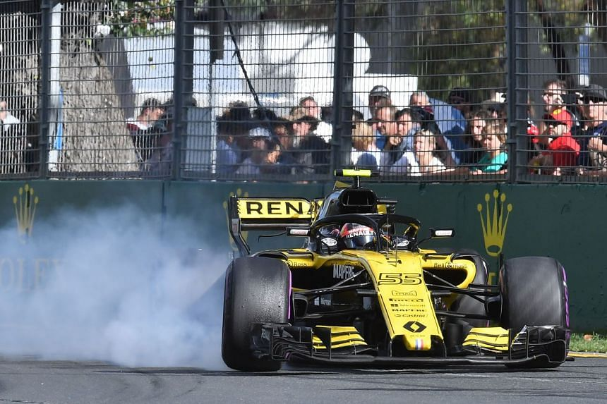 Renault's Spanish driver Carlos Sainz Jr during the Formula One Australian Grand Prix in Melbourne on March 25, 2018, in which he finished 10th for a single point.