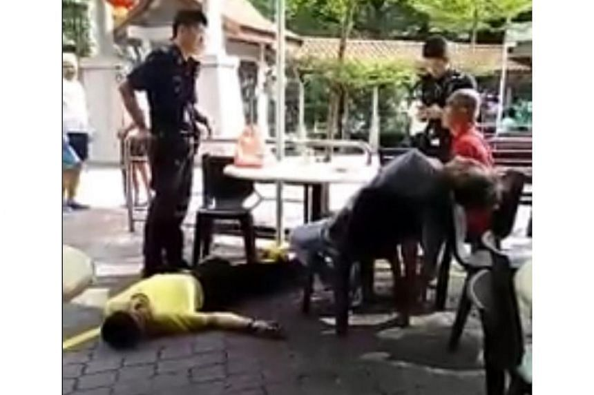 Police arrested three men for suspected drug-related offences, after two of them were seen passed out at a coffee shop in Bukit Batok on March 24, 2018.