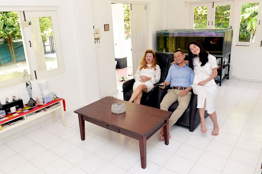 Ashleigh Ivory founder and managing director Cassiopea Yap with her husband Eric Tan and daughter Denyse. The factors Ms Yap looks out for when buying property are the potential capital appreciation, rental yield, location and condition of the property