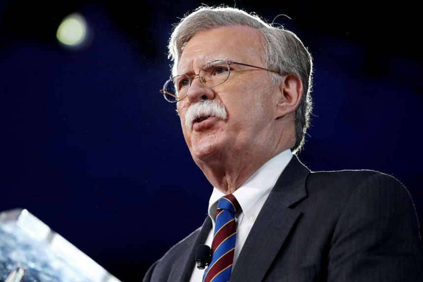 Then US ambassador to the UN John Bolton speaking in Oxon Hill, Maryland, on Feb 24, 2017.