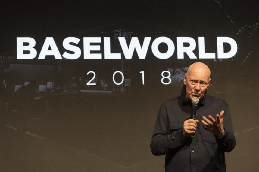 LVMH's head of watch business Jean-Claude Biver speaking at the world watch and jewellery show Baselworld in Basel, Switzerland, on March 21, 2018.