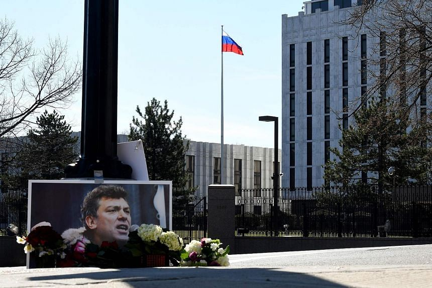 The Russian Embassy in Washington. The likely expulsion of Russian diplomats will align Mr Trump with European allies who feel threatened by Russia and have had a turbulent relationship with the US leader.