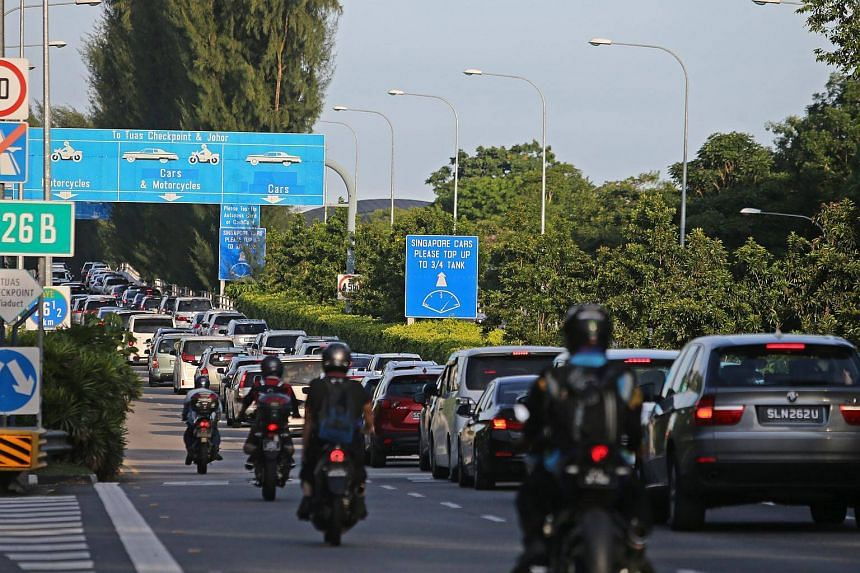 With security checks, traffic build-up is inevitable, especially when a large number of travellers are using the checkpoints at the same time.