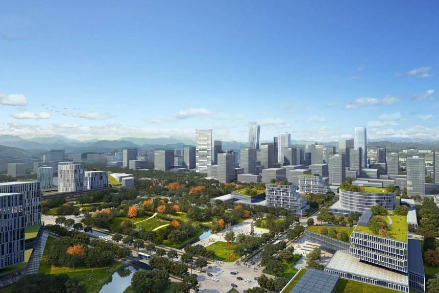 Artist's impression New Clark City in the Philippines, a 9,450-hectare city that government officials say will be bigger than New York's Manhattan by the time it is completed in 25 to 30 years.