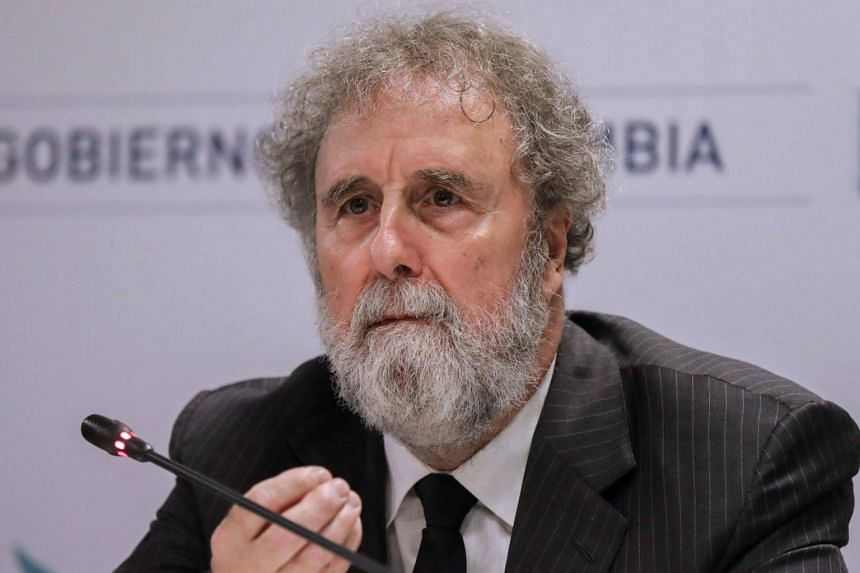 Sir Robert Watson, chairman of the Intergovernmental Science-Policy Platform on Biodiversity and Ecosystem Services, speaks during a press conference in the framework of the 6th IPBES Biodiversity Summit on March 23, 2018.