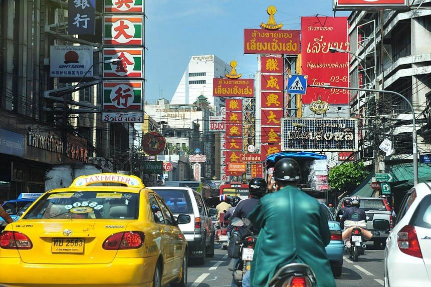 Bangkok's Chinatown district. Under Thai law, foreign companies must apply for and obtain a foreign business licence in order to participate in these businesses.