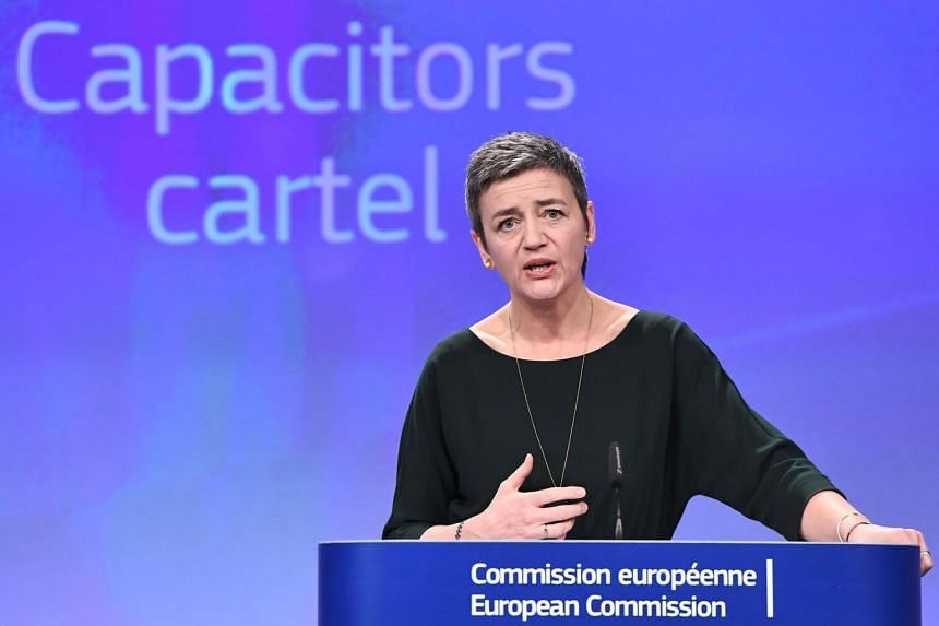 European Commissioner for competition Margrethe Vestager addresses a press conference at the European Union in Brussels, on March 21, 2018.