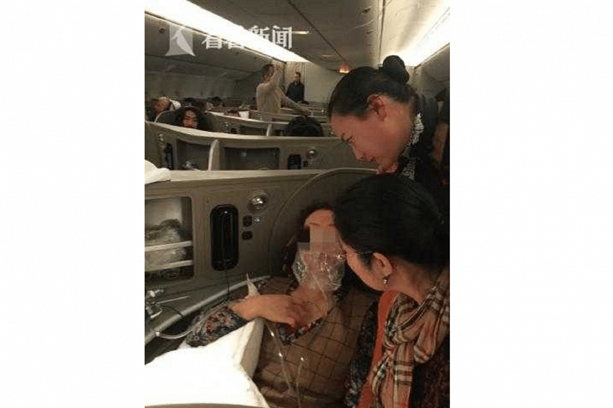 The passenger, a 60-year-old woman, had felt unwell and complained of breathing difficulties while on flight MU587 from Shanghai to New York on March 23, 2018.