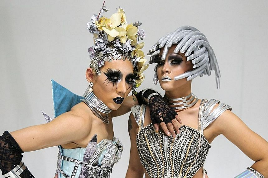 Contestants in Drag Race Thailand include Thanisorn Hengsoontorn (left), Supattarapon Kasikam (right) and fan favourite Assadayut Khunviseadpong, who is known as Natalia Pliacam on the show.