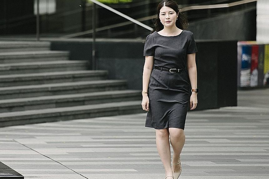 Besides exercising at the gym before work thrice a week, Ms Clara Chua walks for five to 10 minutes to eateries near her workplace to have lunch. Her step count reaches 13,000 to 16,000 on days that she exercises.
