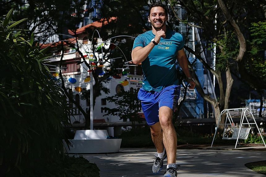 Mr Khalid Ayyash eats healthily, works out consistently and tries to keep a low-stress lifestyle. He used to compete in track events and still runs to maintain his speed and stamina.