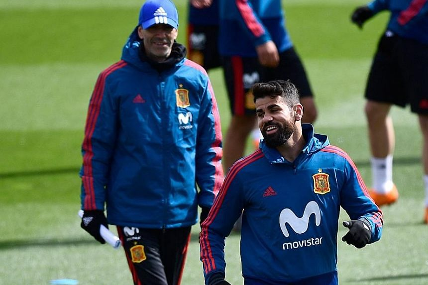 Diego Costa, playing regularly again, is likely to lead Spain's attack at the World Cup.