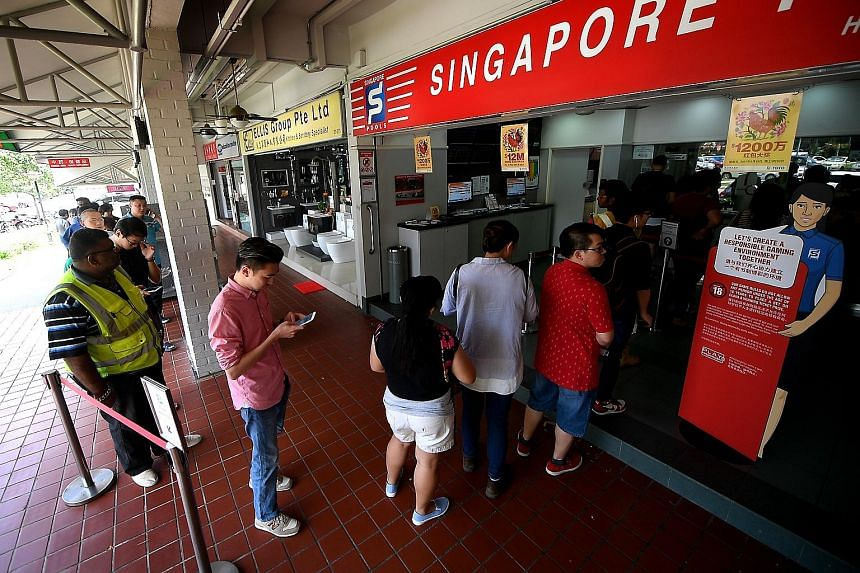 The lure of million-dollar jackpots, like the recent $12 million Toto Hongbao draw, has led more people to test their luck, said observers and counsellors of gambling addicts.