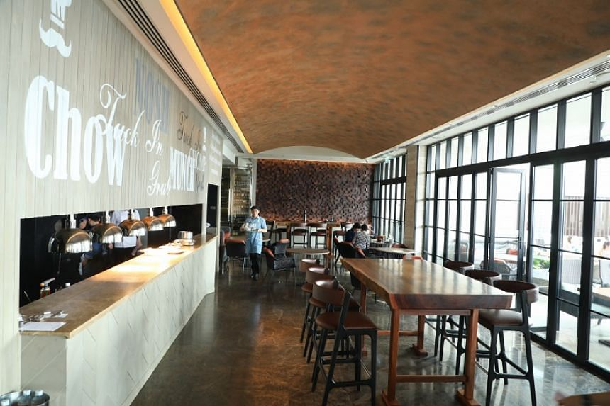 Blunos is a casual dining venue serving international comfort food in a playful atmosphere.