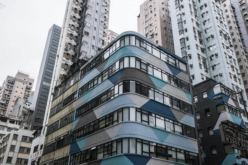 Bibliotheque, a half-century-old building that was turned into dormitory-like living spaces with shared kitchens and bathrooms, in Hong Kong, on Feb 9, 2018.