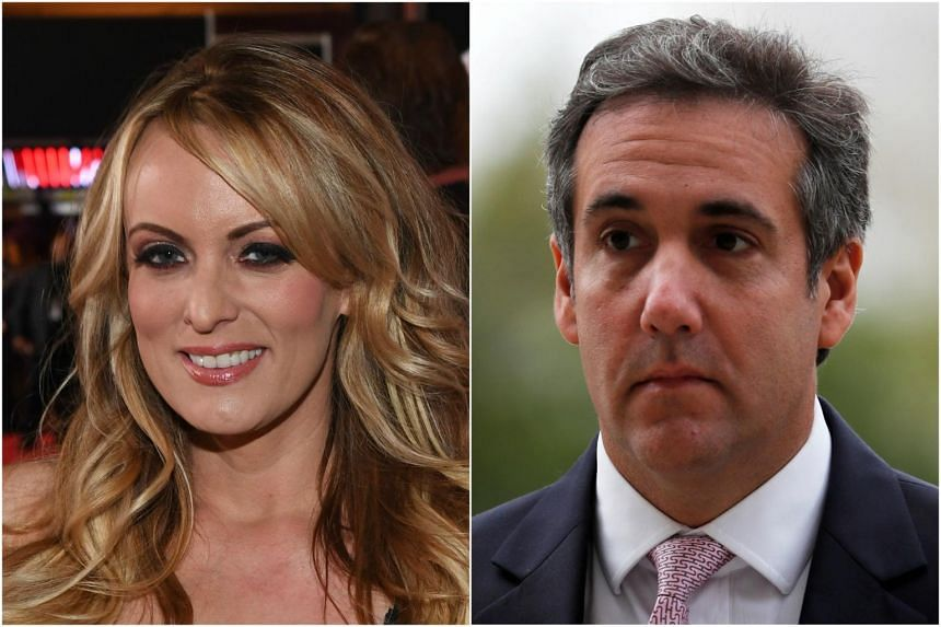 Ms Stormy Daniels (left) added US President Donald Trump's personal lawyer, Mr Michael Cohen (right) as a defendant in her lawsuit.