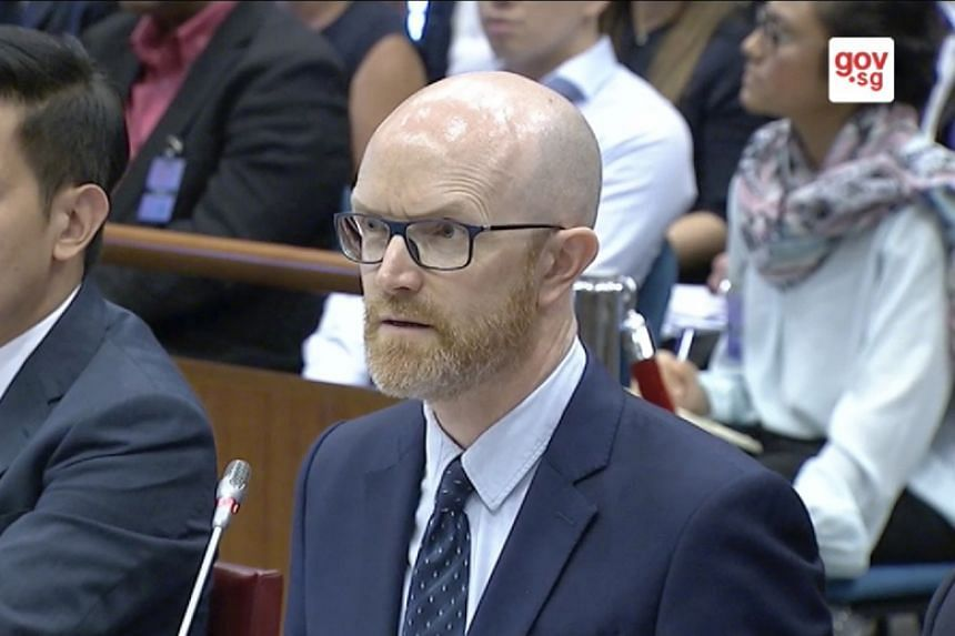 Mr Simon Milner, Facebook's Asia-Pacific vice-president of public policy, appears before Singapore's Select Committee on Deliberate Online Falsehoods on March 22, 2018.