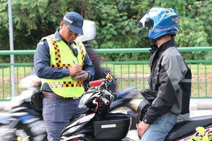 There were 163 riders of foreign-registered motorcycles who were caught for excessive noise emission, while 34 were caught for smoke emission.