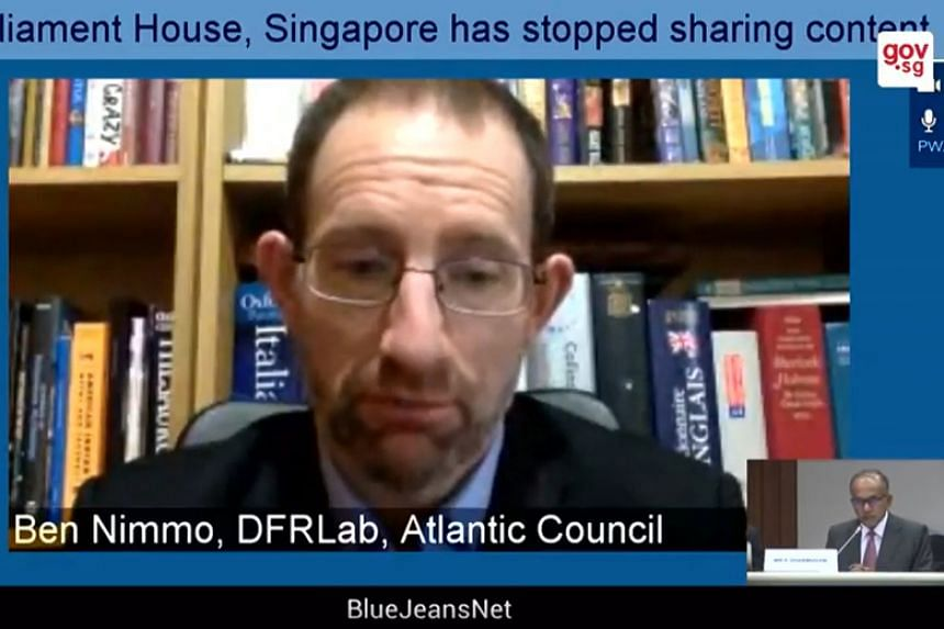 Mr Ben Nimmo, a senior fellow at American think-tank Atlantic Council, argued that there are so many shades of grey that a law to tackle the problem of deliberate online falsehoods would likely have a preamble as big as the Oxford English Dictionary.