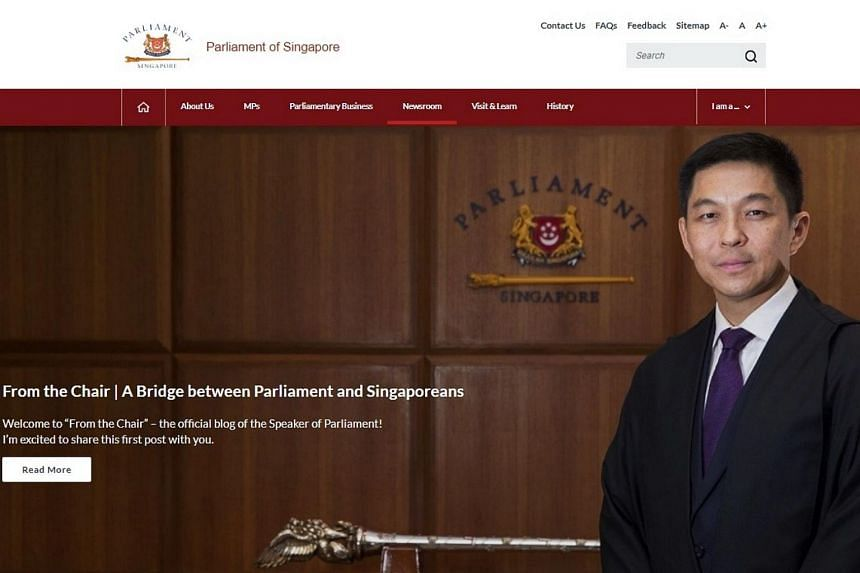 Called From the Chair, the blog is among recent efforts by Speaker of Parliament Tan Chuan-Jin to make Parliament even more accessible to Singaporeans, especially in the online space.