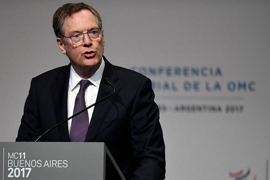 US Trade Representative Robert Lighthizer at the 11th Ministerial Conference of the World Trade Organization plenary session in Buenos Aires, Argentina on Dec 11, 2017.
