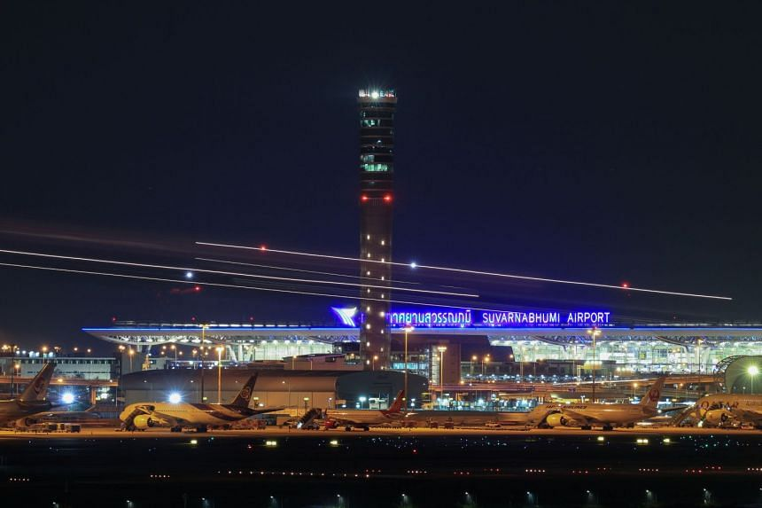 The rail link will connect the two airports in the Bangkok area - Suvarnabhumi International (pictured) and Don Mueang International - with U-Tapao.