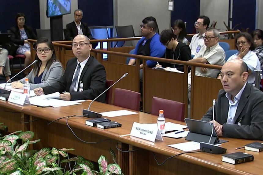 (From left) Freelance journalist Kirsten Han, The Online Citizen chief editor Terry Xu and Maruah vice-president Ngiam Shih Tung appearing before the Select Committee on deliberate online falsehoods on March 27, 2018.