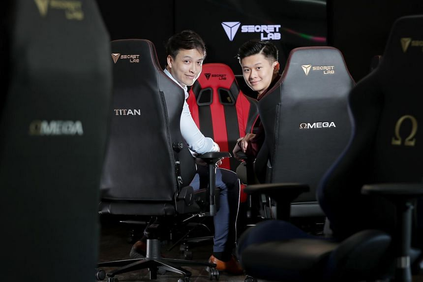 Ian Ang (right) and Alaric Choo, of SecretLab, were also selected in the retail and commerce category.
