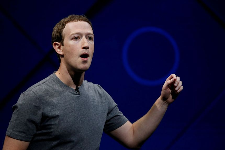 Facebook chief Mark Zuckerberg speaks on stage during the annual Facebook F8 developers conference in San Jose, California, on April 18, 2017.