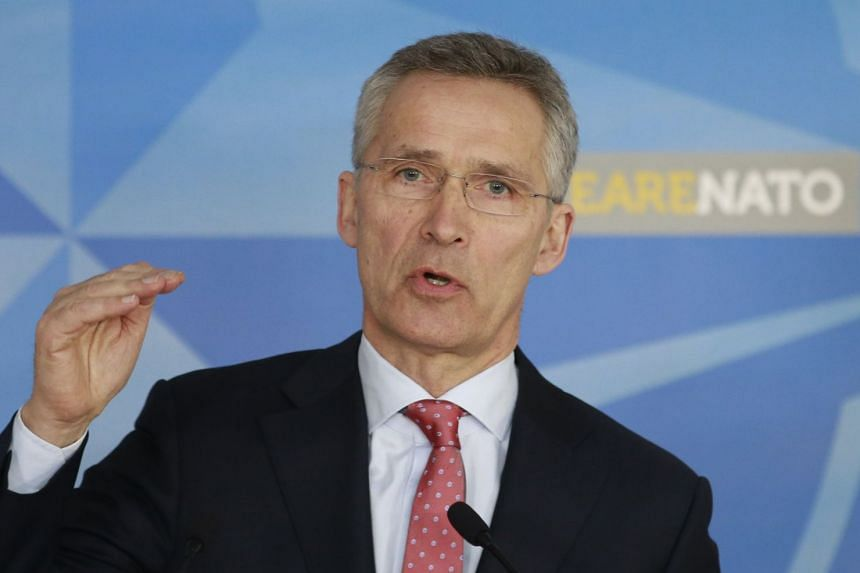 Nato Secretary-General Jens Stoltenberg announces measures against Russia on March 27, 2018.