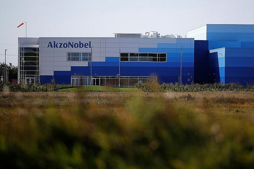 Akzo Nobel's paint factory in Ashington, Britain. The sale of Specialty Chemicals for a slightly better-than-expected price will allow Akzo to focus on its main paints and coatings business.