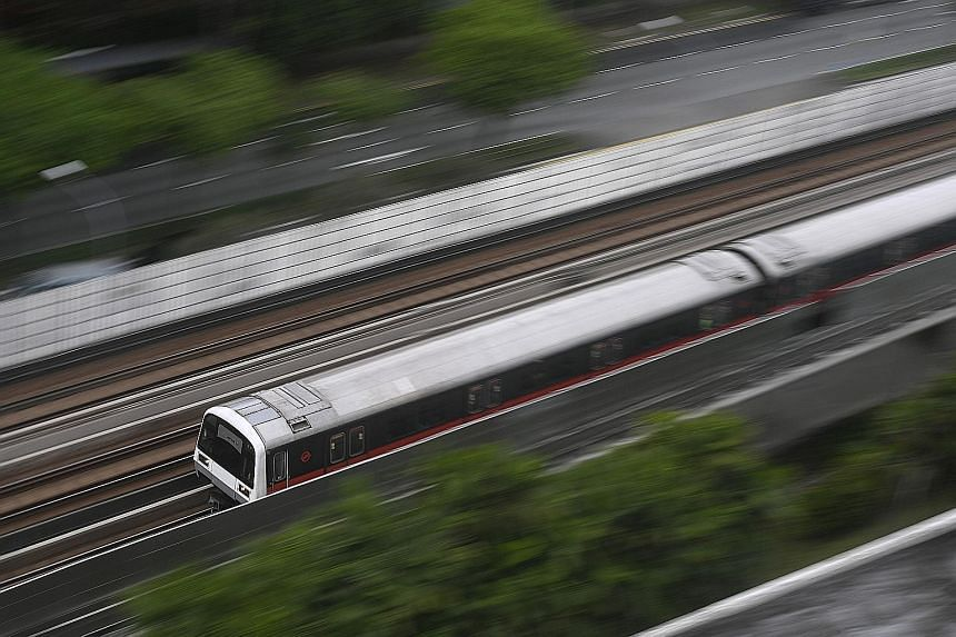 In its review, SMRT said it had aimed to raise rail reliability on its North-South and East-West lines to one delay per 300,000km by the end of last year - up from 180,400km and 151,400km on the North-South and East-West lines, respectively, as at Ap