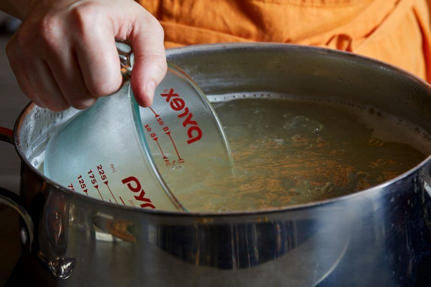 Save some of the pasta cooking water to thin out sauces. PHOTO: STACY ZARIN GOLDBERG FOR THE WASHINGTON POST