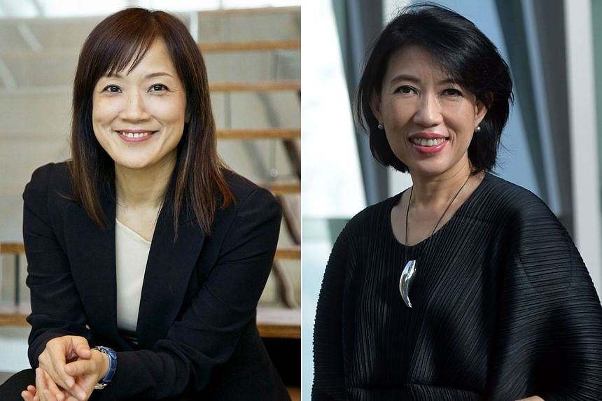 Standard Chartered's chief executive officer for Singapore and Asean markets Judy Hsu (left) and DP Architects chief Angelene Chan, who have been appointed to the URA board.
