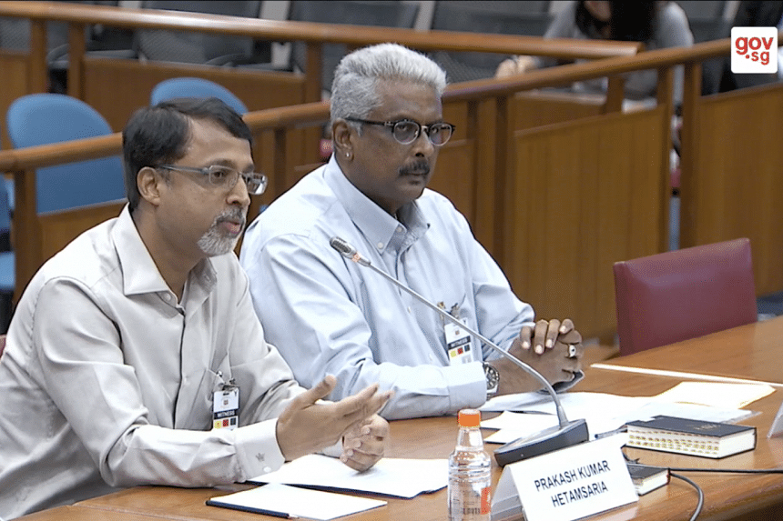 Mr Prakash Hetamsaria (left) urged the public to be proactive in verifying news stories they read. Mr Raja Mohan (right), chief programme officer of a voluntary welfare organisation, also highlighted the need for media literacy.