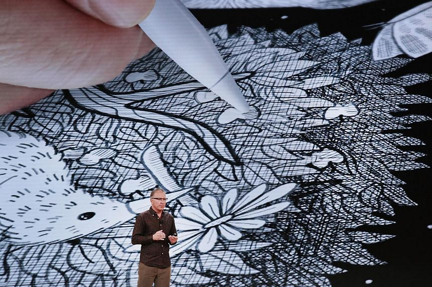 Apple CEO Tim Cook introduces Apple's new iPad. The new iPad supports Apple Pencil stylus which was lacking in last year's model.