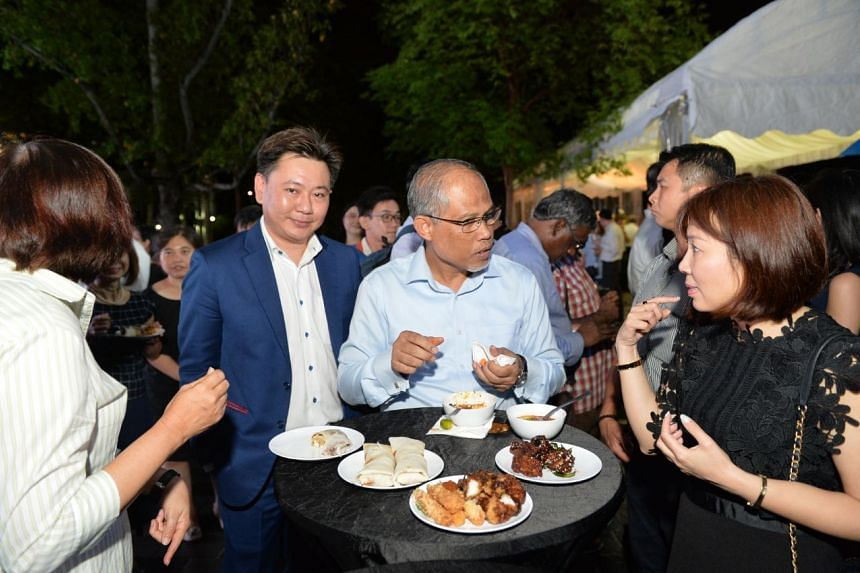 (From left) Carlton City Hotel Singapore executive assistant manager Augustine Cheong, Minister for the Environment and Water Resources Masagos Zulkifli and Qifa Primary School principal May Tan after the Watermark Award ceremony at Bishan-Ang Mo Kio
