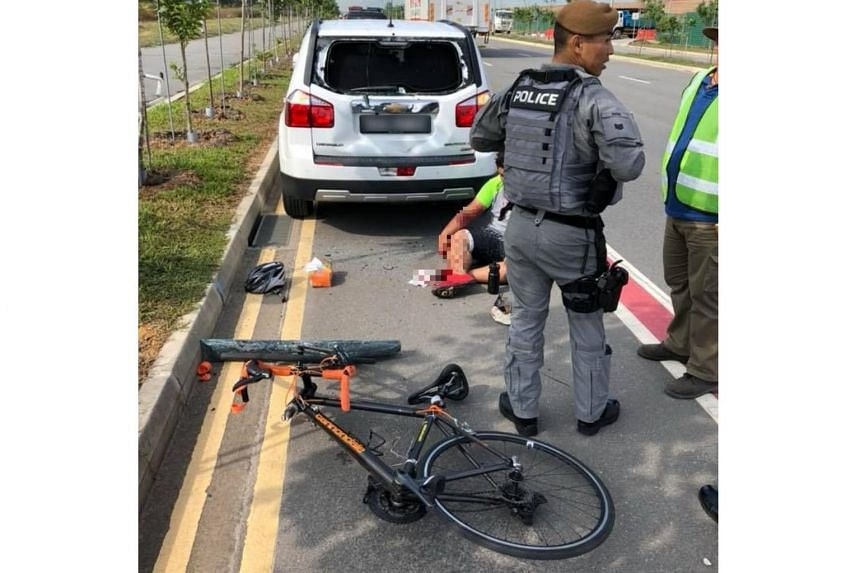 ST understands that the car was stationary when the accident occurred, and the cyclist had ridden into the back of the car.