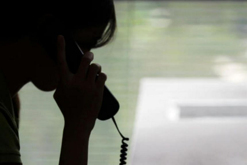The 58-year-old woman said she had received a phone call from a man claiming to be from the Chinese police.