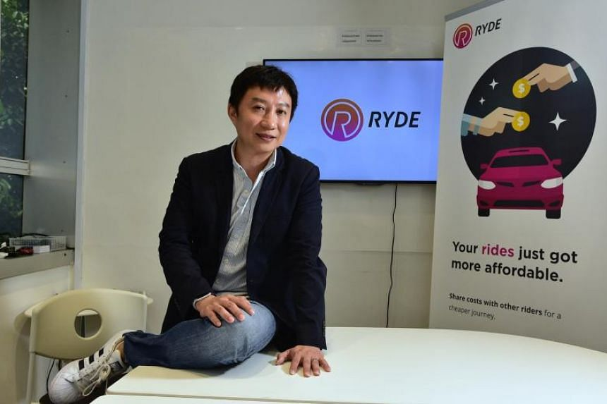 Ryde CEO Terence Zou at the company's office in North Bridge Centre on March 28, 2018.