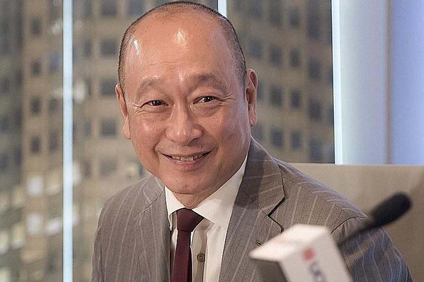"DBS Group Holdings chief executive Piyush Gupta believes a return on equity of 13 per cent is ""readily achievable"". United Overseas Bank CEO Wee Ee Cheong reaped an 11 per cent pay rise to $9.4 million last year. Mr Wee and his family own about 18 pe"