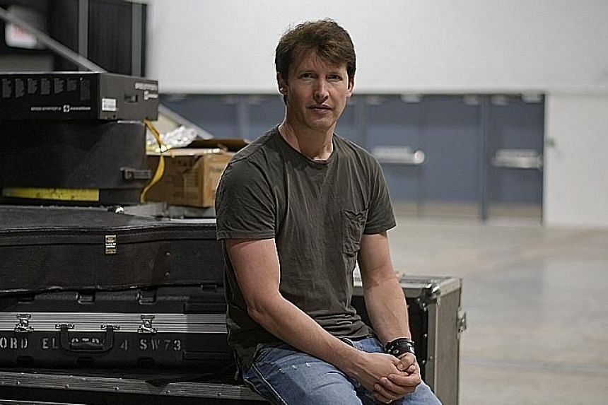 Singer James Blunt is not a fan of social media and says he tweets only about once a month.